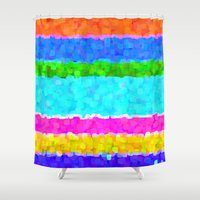 miami Shower Curtains featuring Miami by Saundra Myles