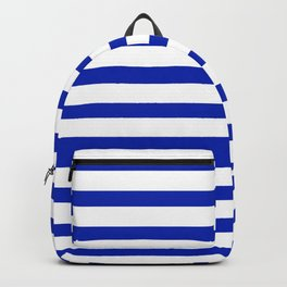 Cobalt Blue and White Stripe Backpack