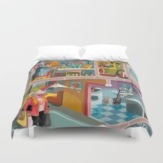 Greetings from Budapest Duvet Cover