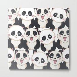 happy panda bears Metal Print
