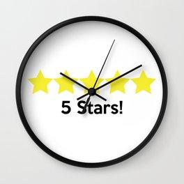 5 Stars! Wall Clock