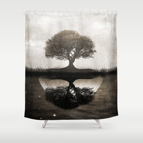 The lone Night reflex Shower Curtain