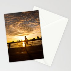 Sunset runner Stationery Cards