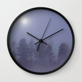 Silent Night in Foggy Atmosphere #decor #society6 Wall Clock