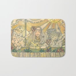 flower children Bath Mat