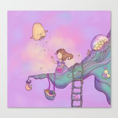 Up on the treetop 2 Canvas Print