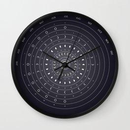 2019 Lunar Phases Calendar Wall Clock