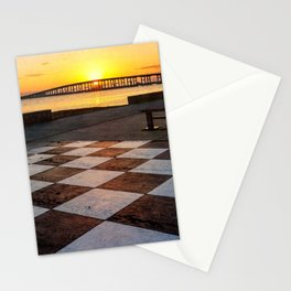 Checkerboard Sunset Stationery Cards