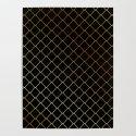 Golden Fishing net on black by shawlinmohd