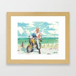 Sky Bike Framed Art Print
