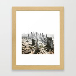 burj khalifa in dubai Framed Art Print