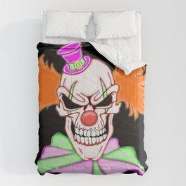Demented Clown Skull Comforters