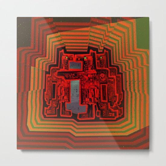 Three's a Crowd / Robotics Metal Print