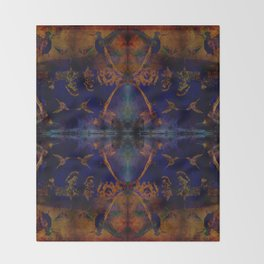 Hummingbird dance geometry II Throw Blanket