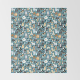 Cute Puppies Little Dogs Throw Blanket