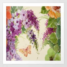 Butterfly Bush floral Art Print