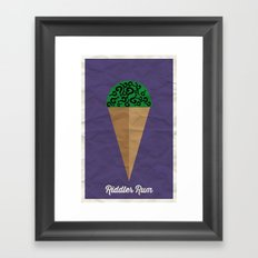 Riddler Rum Framed Art Print
