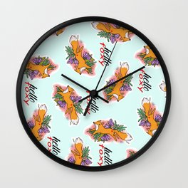 Hello Foxy Wall Clock