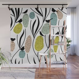 Birds and flowers Wall Mural