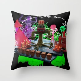 Fun worm king Throw Pillow