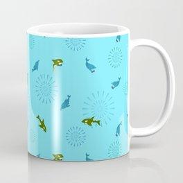 Blue Dolphin and Orca Coffee Mug