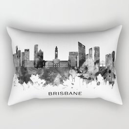 Brisbane Australia Skyline BW Rectangular Pillow