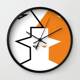 Geometric faces #society6 #decor #buyart #artprint Wall Clock