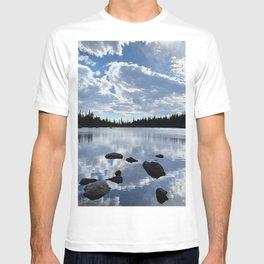 Watercolor Landscape, Two Rivers Lake 01, RMNP, Colorado T-shirt