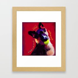 A Ball in the Mouth Framed Art Print