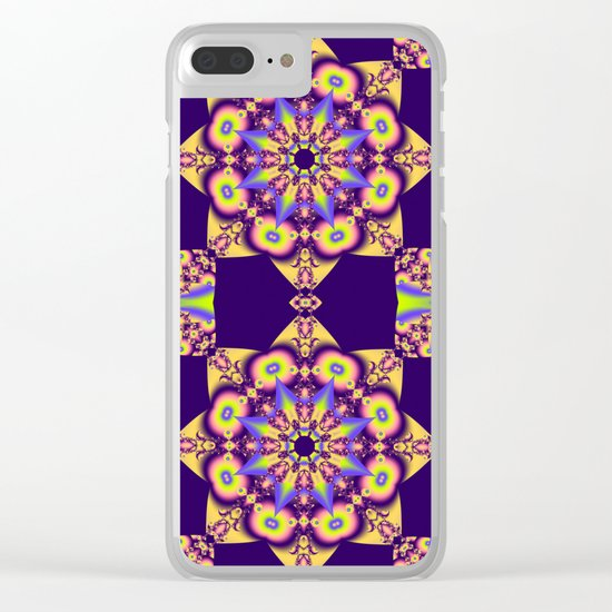 Decorative double star kaleidoscope Clear iPhone Case