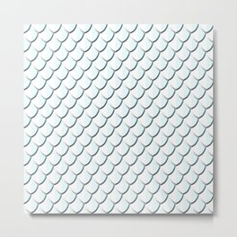 Platinum Dragon Scale Metal Print