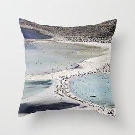 Balos Beach Abstraction Throw Pillow