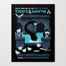 Templo de los Muertos Canvas Print