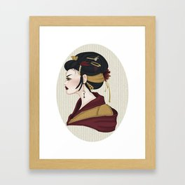 Geisha Framed Art Print