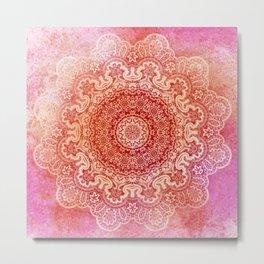 big beauty mandala in warm mood Metal Print