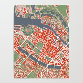Copenhagen city map classic Poster
