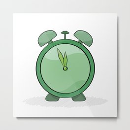 green alarm clock Metal Print