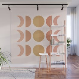 Cheerful  Moon Phases Wall Mural