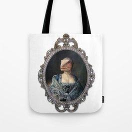 Framed Dame Deinonychus Tote Bag
