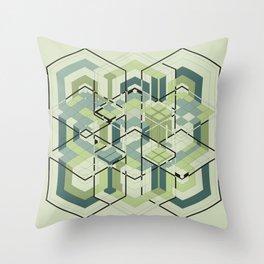 Hexagons #01 Throw Pillow
