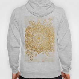 Queen Starring of Mandala-Gold Sunflower II Hoody