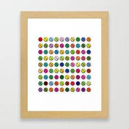 Multi-coloured Pills Pattern square Framed Art Print