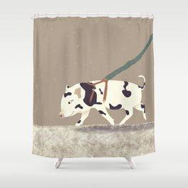 Baby Pig Original Design Shower Curtain