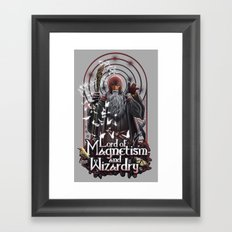 Lord of MAgnetism and Wizardry Framed Art Print
