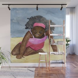 A Day On The Beach Wall Mural