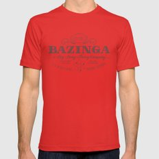 Bazinga Vintage Red 2X-LARGE Mens Fitted Tee
