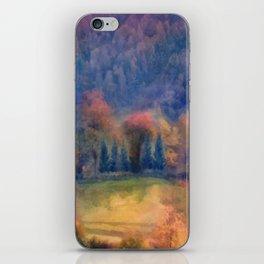Fall landscape iPhone Skin