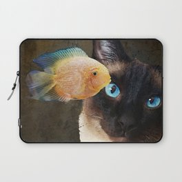 Wishful Thinking 2 - Siamese Cat Art - Sharon Cummings Laptop Sleeve