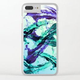 Vaporwave Style Abstraction Clear iPhone Case