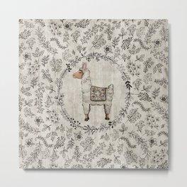 Lala Llama Metal Print